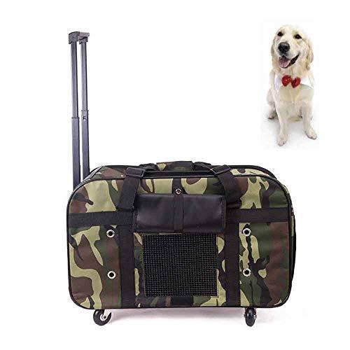 ACLBB Haustier-Kamel-Trolley, Reise-Rollentasche, atmungsaktives Nylon faltbar, Geeignet für mittlere/kleine Katzen