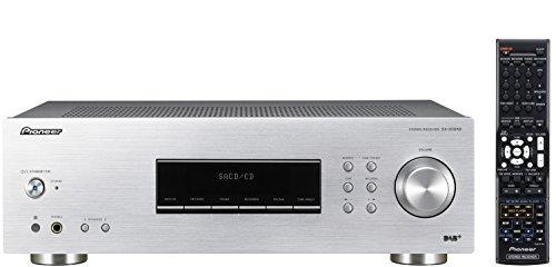 Pioneer SX-20DAB-S Stereo-Receiver (DAB/DAB+, UKW/MW-Tuner und Phono-Eingang, Verstärker mit 100 Watt/Kanal, zwei Anschlussterminals für Lautsprecher, Aluminium Front) silber
