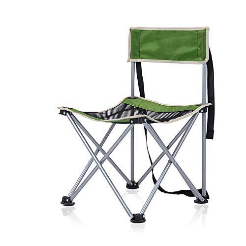 DEI QI Chaise Pliante extérieure, Petit Tabouret, Chaise de pêche avec Dossier Portable, Chaise de Camping pour Barbecue, Polyvalente, Durable (Couleur : Vert)