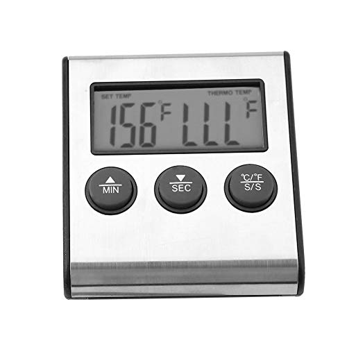 Thermometer, 4.3in Wide Measuring Range Bimetallic Thermometer, -50℃~300℃ Simple Structure Durable for Food Meat