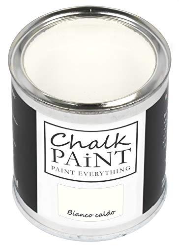 Everything Chalk Paint blanco cálido 750 ml – Sin lijar, colorea fácilmente todos los materiales