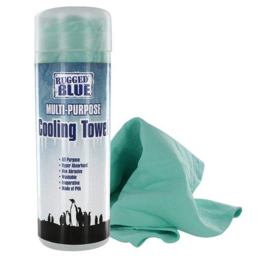 Rugged Blue Toalla de enfriamiento Multiusos PVA, 80 x 34, 78,7 cm de Largo x 33 cm de Ancho, Verde