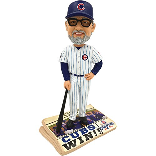 MLB Chicago Cubs Maddon #70 2016 World Series Champions Newspaper Base Bobble, Team Color, One Size