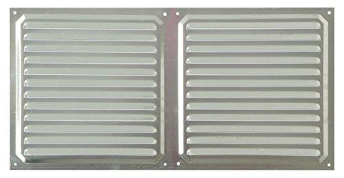 Brinox B70540A Rejilla de ventilación, Aluminio, 20 x 40 cm