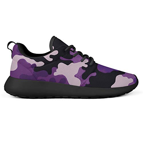 Purple Camo Running Shoes for Women American Football Lightweight Stylish Fashion Suitable for All Seasons
