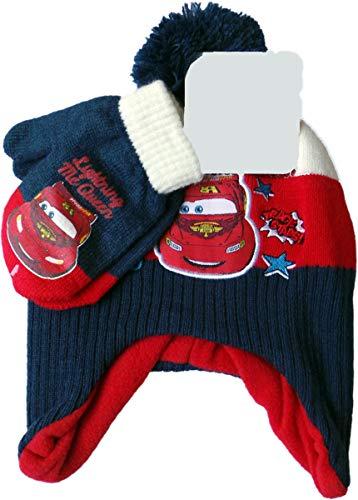 MLS Kids Disney Cars Baby Winterset - Mütze und Handschuhe mit Geburtstagskarte - Lightning Mc Queen - Track Stars - Bundle by Blau/Rot/Weiß/Mehrfarbig