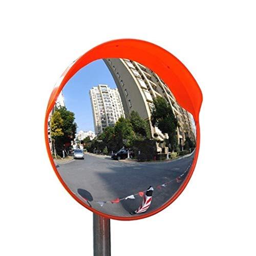 XHZESC Lente Gran Angular para Exteriores de la Comunidad, Espejo Convexo de plástico Rojo Espejo de tráfico Duradero Resistente a la Intemperie Espejo de estacionamiento (tamaño: 75 cm)