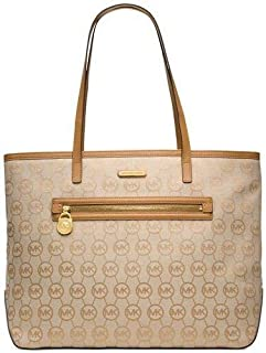 Michael Kors 38S5GKPM3 Large Kempton East West Tote Bag - Beige/Camel/Tan