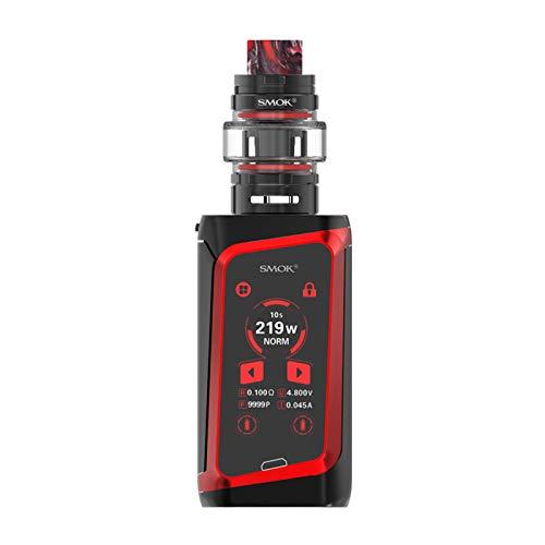 """SMOK Morph 219 Kit avec réservoir TF de 6 ml Écran tactile Smoktech 219W Morph 219 Mod 1.9""""alimenté Kit 100% d'origine (Noir rouge-)"""