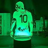 KangYD Futbolista de luz nocturna 3D, lámpara de ilusión LED, panel de...