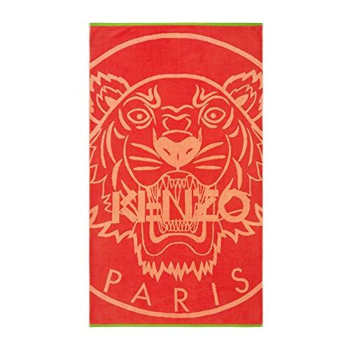 Kenzo tiger logo toalla de playa Naranja