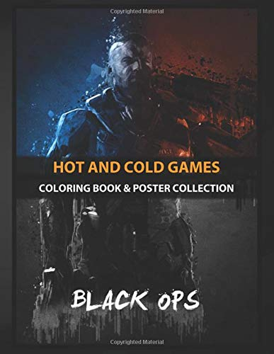 Coloring Book & Poster Collection: Hot And Cold Games Call Of Duty Black Ops Gaming