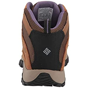Columbia Women's Crestwood MID Waterproof Hiking Shoe, Dark Truffle, Plum Purple, 7 Regular US