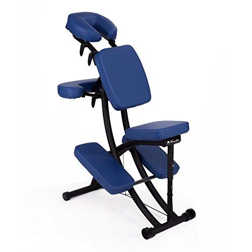 Oakworks Pro Paket, Massagestuhl (ocean-blau), klappbar, mobil, als Komplettpaket mit passender Transporttasche und Papier-Kopfstützbezügen (100 Stk.), vielseitig verstellbarer Therapiestuhl, hochwertige Markenqualität aus den USA