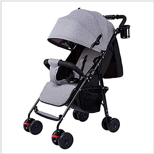 CS-DTXC Kinderwagen Ultralight Draagbaar Kan Zitten En Liggen Gemakkelijk Vouwen Kinderstoelen, Kinderwagens Baby Trolley Beste cadeau voor mama/papa