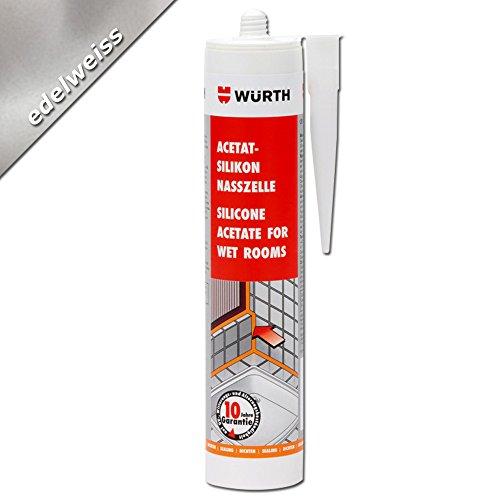 Würth Acetat - Silikon Nasszelle Edelweiss 310 ml Kartusche