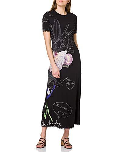 Desigual Vest_Flor Robe décontractée, Noir, X-Small Femme