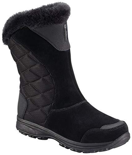 Columbia Women's ICE Maiden II Slip Snow Boot, Black, Shale, 8 M US