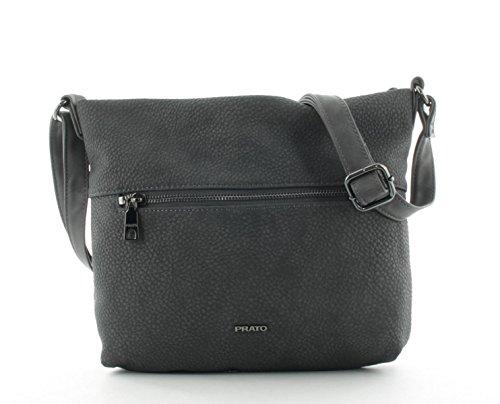 Prato Damen Schultertasche Damentasche Umhängetasche Freizeittasche S705 Grau