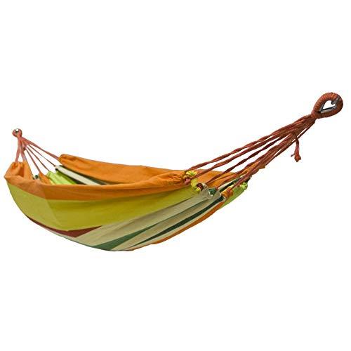 KHHFUO Einzelne Leinwand-Hängematte nach europäischem Standard, tragbares Reisebett für Garten, Gartenmöbel 200 * 80cm, A2