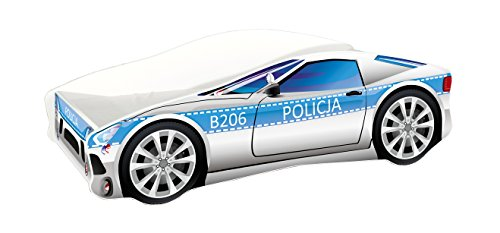 Kinderbett Autobett Auto Junior mit Lattenrost und Matratze 140x70 160x80 180x80 ACMA (160x80, 9)