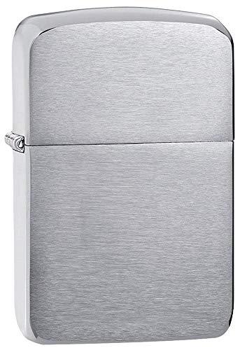 Zippo Zippo Feuerzeug 60001169 Benzinfeuerzeug, Messing, Chrome Brushed(Silber) Chrome Brushed(silber)