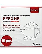 CRAZYCHIC - FFP2 Masker - CE Gecertificeerd EN149 Adembeschermingsmasker - Mondkapje Stofmasker - Hoge Filtratie 5 Lagen Ademmasker - Gezichtsmasker Individueel Verpakt