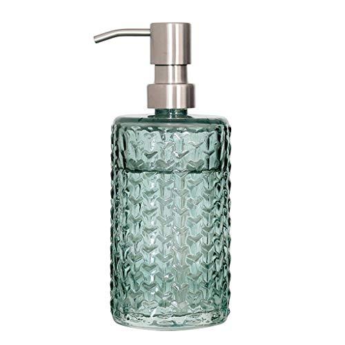 YINGZI Recargable Dispensador de jabón nórdico embotellado de Mano de Acero Inoxidable de Acero Inoxidable de Cristal en Relieve para baño Cocina de Alta Gama Dispensador de Baño