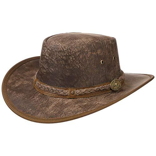 Scippis Chapeau en Cuir Springbrook Chapeau de Cowboy (M (56-57 cm) - chatain)