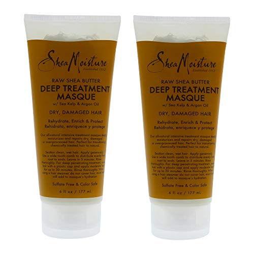 Shea Moisture Raw Shea Butter Deep Treatment Masque Pack Of 2, 6 Oz
