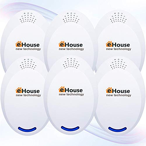 BH-4, 6Pack - Ultrasonic Electronic Repellent - Best Plug in - Get Rid of - Rodents, Squirrels, Mice, Rats, Bats, Insects - Roaches, Spiders, Fleas, Bed Bugs, Flies, Ants, Mosquitos, Fruit Fly!