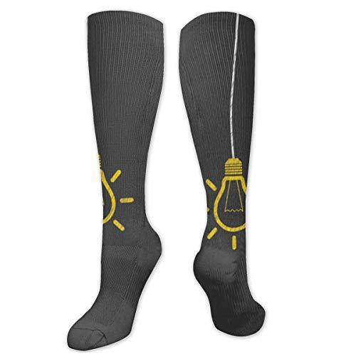 Preisvergleich Produktbild Jennsala Glühbirnen Unisex Casual Socken Best Crazy Socks Novelty Socks 50 cm
