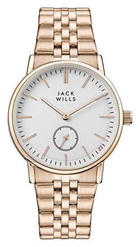 Jack Wills Damen Analog-Digital Quarz Uhr mit Edelstahl Armband JW007WHRS