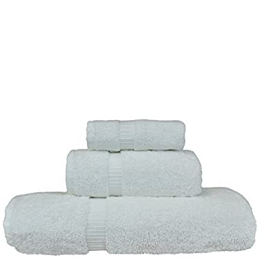 100% Cotton Luxury Hotel & Spa Towel 100% Superior Cotton Towel Bundle 3 Piece Towel Set, White, 1 x Bath Towel 27 X54 , 1 x Hand Towel 16 X30 , 1 x Wash Cloth 13 x13
