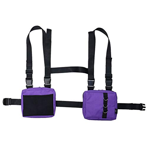 Bolsa para el Pecho Tipo walkie Talkie, cinturón de Pecho Ajustable Universal Radios de Dos vías Bolsa de Transporte Estuche de Nylon Accesorio para el Trabajo de Rescate