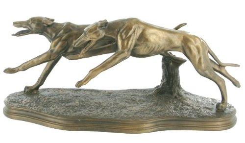 Racing–Figura de perro galgo Figura de bronce fundido en frío de Beauchamp