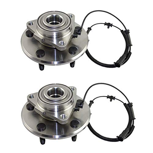 Detroit Axle - NEW (Both) Front Wheel Bearing and Hub Set Compatible for 2006 2007 2008 Dodge Ram 1500