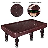 Kohree 8 Foot Heavy Duty Leatherette Billiard Pool Table Cover, Waterproof & UV Protection(Brown)