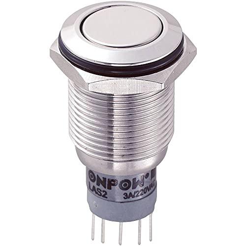 TRU Components LAS2GQF-22Z/S/P Vandalismusgeschützter Druckschalter 250 V/AC 3A 2 x Ein/Ein IP67 ra