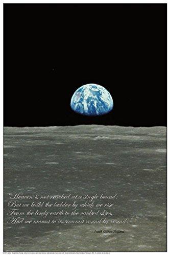 Earthrise (Earth Rising over Moon Horizon) Poster 24 x 36in by Feenixx Publishing