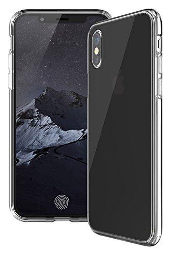 "KHOMO Funda iPhone X - XS - 2017 y 2018-5,8"" OLED - Carcasa Ultra Delgada Apple iPhone X - iPhone XS - Funda Anti-Rayones Trasera con Bordes de Silicona Antichoque - Transparente"