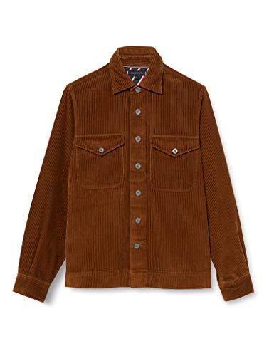 Tommy Hilfiger Herren Corduroy Overshirt Hemd, Highland Khaki, L