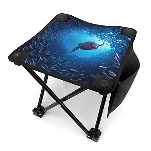 BTRWAPS Underwater Sea Lion Portable Folding Stool,Mini Portable Lightweight Outdoor Folding Chair with Carry Bag