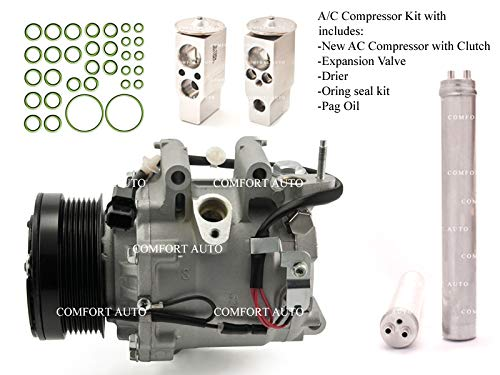 2006 2007 2008 2009 2010 2011 Honda Civic 1.8L 4 Door ONLY SEDAN New AC Compressor KIT 1 Year Warranty