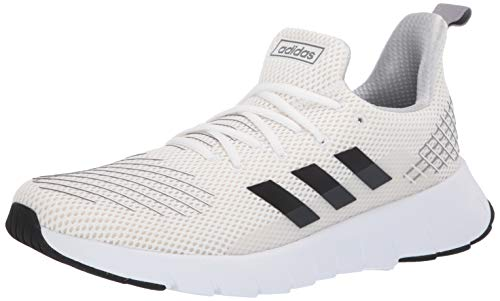 adidas Men's ASWEEGO Running Shoe, White/Black/Grey, 10 M US