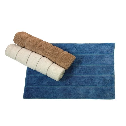 MAURER Tappeto bagno in cotone colore azzurro cm 50x70 Maurer