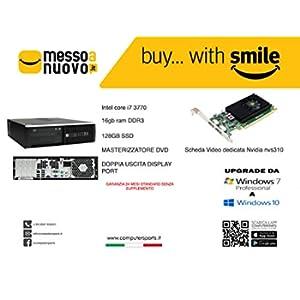 HP ELITE 8300 SFF INTEL CORE I7 3770 @3,40GHZ 16GB 128GB SSD QUADRO NVS 310 W10 PRO GARANZIA 24 MESI STANDARD (Ricondizionato)