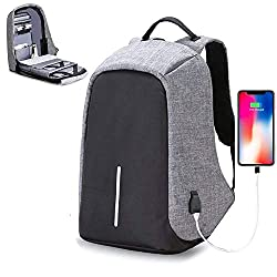 Backpack OZOY Fabric Anti-Theft Water Resistant Computer USB Charging Port Lightweight Laptop Backpack Bag Fitting 15.6-inch Laptops Tablets,Un-Tech,DIA 15.6