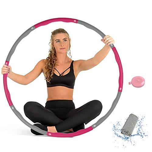 SHAWLAM Reifen Erwachsene/Kinder, Reifen für Erwachsene zur Gewichtsabnahme und Massage, EIN 6-8-Teiliger Abnehmbarer Reifen, Geschenk Kühlhandtuch und Maßband