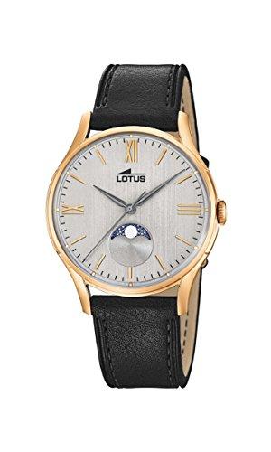Lotus Watches Reloj Fase Lunar para Hombre de Cuarzo con Correa en Cuero 18428/1